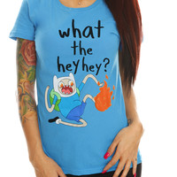 Adventure Time What The Hey Hey Girls T-Shirt
