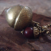 MAGIC Bronze NUT & palm SEED long vintage chain by AsaiBolivien 10,90 US$