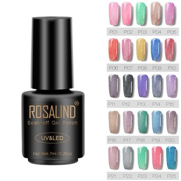 ROSALIND 7ML Fur Effect Gel Nail Polish Nail Art Nail Gel Polish Soak Off UV LED Long-Lasting 26 Colors Nail Art Gel Varnish