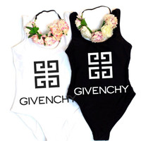 Givenchy Tide brand women's sexy backless vacation beach bikini