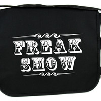 Freak Show Carnival Poster Messenger Bag Cross Body Bags Circus Side Show