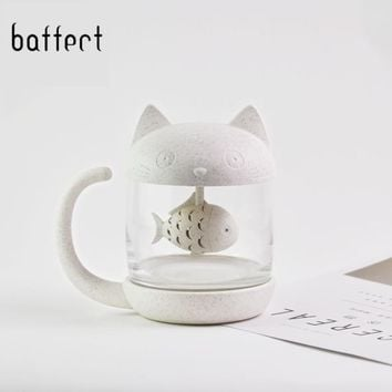 1 Pc Cute Cartoon Cat Personality Tea Infuser Mug