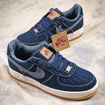 Levi's x Nike Air Force 1 Low Denim AF1 Sport Shoes