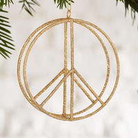 Peace Glitter Ornament - Urban Outfitters