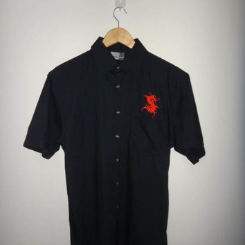 SEPULTURA Shirt Short Sleeve Button Down Heavy Metal Tee