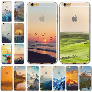 Soft Phone Case Cover For iPhone 5C Free Shipping Newest Semi Transparent Colorful Design WHD1474 1-15