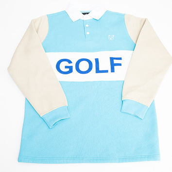 GOLF RUGBY SHIRT POWDER BLUE – golfwang