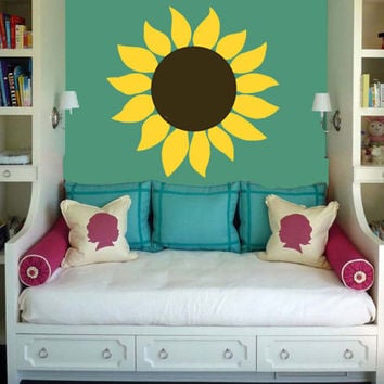 Sunflower Wall Decal | Flower Decal | Floral Decoration