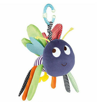 Colorful Baby Toys 0-12 Months Butterfly Stuffed Toys Plush Doll Toys For Newborns Soft Baby Rattles Mobiles Toy -- BYC039 PT49