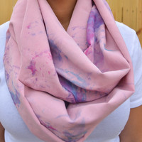 Shades of Purple Tie Dye Infiniti Scarf