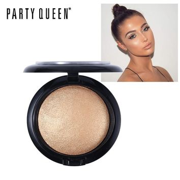 Party Queen Glow Kit Baked Highlighter Powder Imagic Illuminator Brighten Natural Face Contour Palette Bronze Makeup Gold Silver