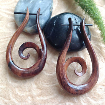 Stick Post Earrings 100 Naturally Organic Hand by DewiDesign