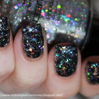 Ice Queen Nail Polish - Holographic Glitter Nail Color - 0.5 oz Full Sized Bottle