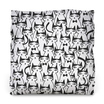 Cats Cats Cats Outdoor Throw Pillow
