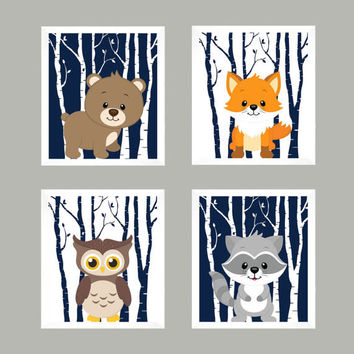 Woodland Nursery, Baby Print, Nursery Print, Baby Decor, Animal Print, Nursery Decor, Forest Animals, Woodland Animals, Wall Art, Wall Decor