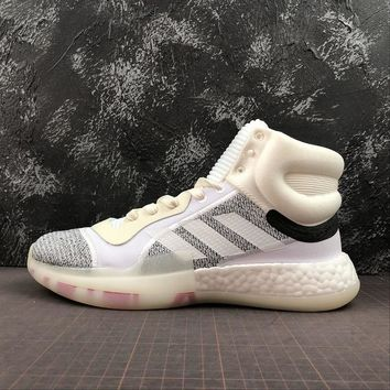 Adidas Marquee Boost White Grey Basketball Shoes - Best Online Sale