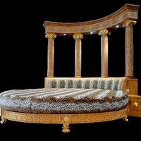 Empire rotunda bed. Sleep like a Tsar.