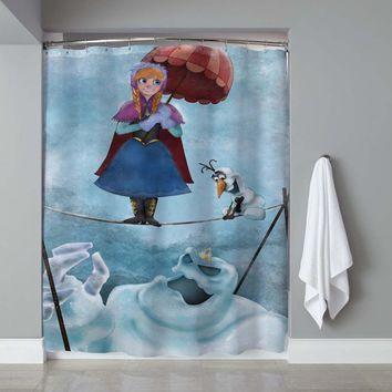 Frozen Elsa Haunted Mantion Disney Edition Shower Curtain High Quality 60 x 72