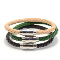 3 Pack Large Leather Variety Beige/Green/Brown