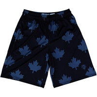 Canada Flag Black Out Lacrosse Shorts