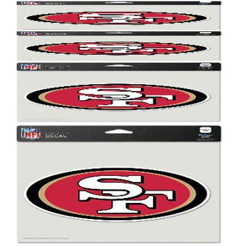 "SAN FRANCISCO 49ERS LOGO 8""X8"" COLOR DIE CUT DECAL BRAND NEW WINCRAFT"