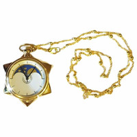 New Anime Sailor Moon Golden Moon Prism Sweater chain necklace pendant pocket watch