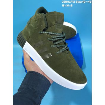HCXX A423 Adidas Tubular Invade Yeezy 750 Hight Suede Skate Shoes Green