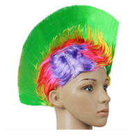 Shiny Cockscomb Hair Punk Hair Cap LED Bright Wig    shiny rainbow green