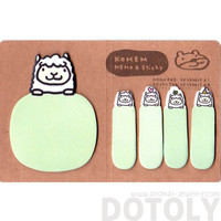 Alpaca Llama Shaped Adhesive Post-its and Memo Notepad | Animal Themed Stationery