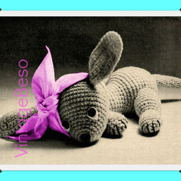 1930s Vintage Crochet Pattern | Pippy the Puppy | Get Well Gift Stuffed Toy Pattern Animal Sweet Puppy | Direct from UK