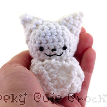 Ghost Bat Amigurumi Crocheted Plush Toy