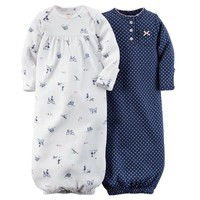 Carter's 2-pk. Bike Sleeper Gowns - Baby Girl, Size: One Size (Blue)
