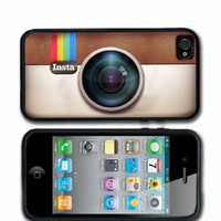 Instagram iPhone 4 case iPhone 4s Case Silicone Black or White Personalized with your name.: Cell Phones & Accessories