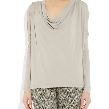 Casual draped jersey tshirt. Cowl neck top
