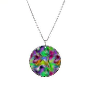Psychedelic Collection Necklace Circle Charm> The Psychedelic Collection> Graphic Allusions