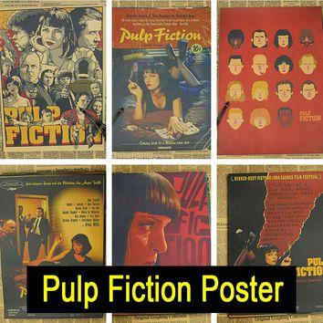 Pulp Fiction Vintage Retro Matte Kraft Paper Poster