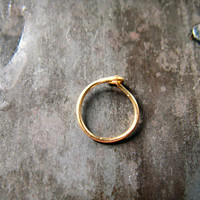Nose  Hoop Tragus Hoop in Gold