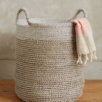 Sun Stream Basket by Anthropologie in Silver Size: One Size Office