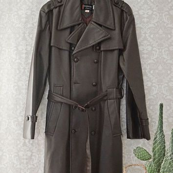 Vintage 1970s Spy + Belted Trench Coat
