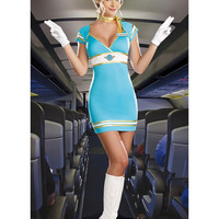 MOONIGHT Sexy Stewardess/Air Hostess/Flight Attendant Halloween Costume