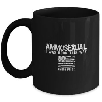 Ammosexual I Was Born This Way Ammo Pride American Flag