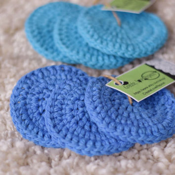 Sample Set of Scrubbies - Scrubby Sample Set - Facial Pads - Small Cotton Washcloths - Skin Care Sample (Full Sets in Our Shop!)