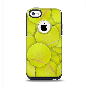 The Tennis Ball Overlay Apple iPhone 5c Otterbox Commuter Case Skin Set