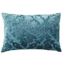 Velvet Damask Pillow - Teal