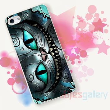 Cheshire Cat Smile Alice for iPhone 4/4S, iPhone 5/5S, iPhone 5C, iPhone 6 Case - Samsung S3, Samsung S4, Samsung S5 Case