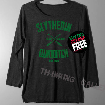 Slytherin Quidditch Shirt Long Sleeve TShirt T Shirt - Size S M L
