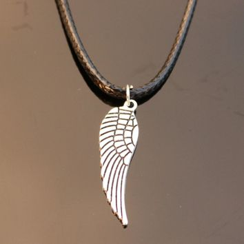 N788 Angel Wings Necklaces Bijoux Collares For Women Men Feather Pendant Necklace