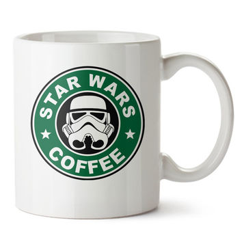 Star Wars Coffee Mug Starbuck Logo Ceramic Mug