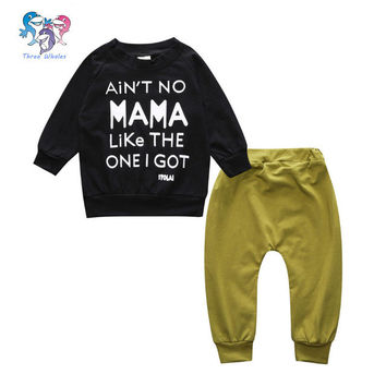 Spring Stylish Clothes For Baby Boys Letter Long Sleeve Toddler Tracksuit Set Cotton Outfits Toddler Boy Suits Children's Sports