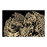 Leopard Big Cat Mates Original Abstract art Poster